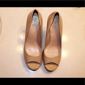 Vince Camuto open toe wedges